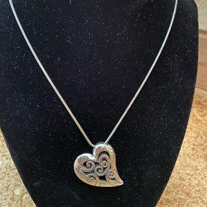 Brighton side swoop heart pendant collar necklace